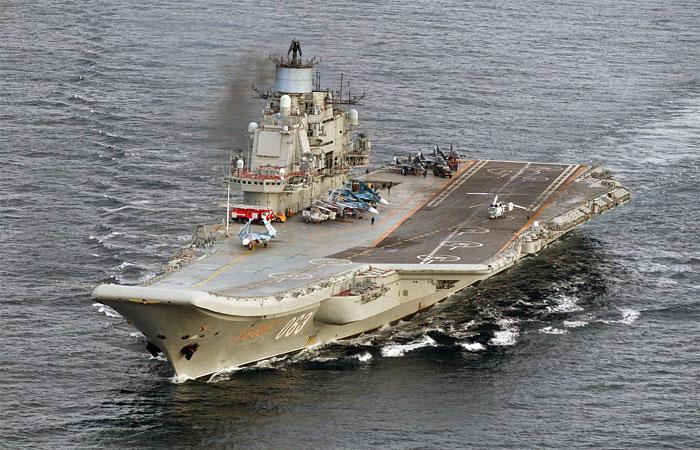 """Крейсер """"Адмирал Кузнецов"""" впервые подключился к боям в Сирии"""