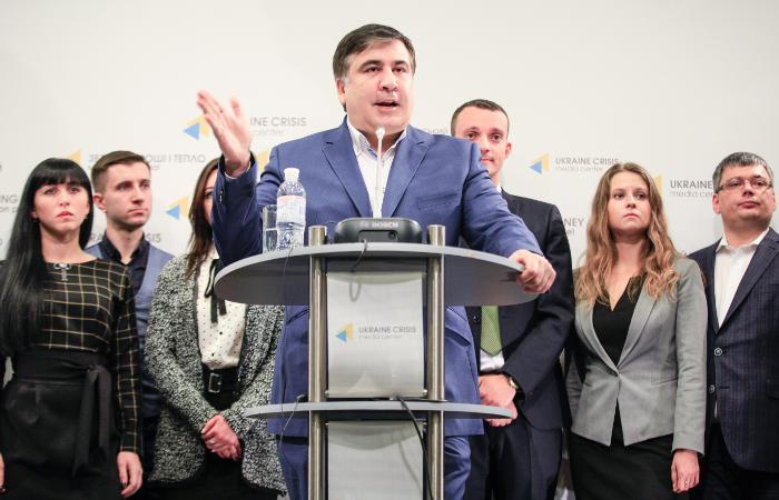 """Саакашвили сообщил о создании движения """"Рух новых сил"""""""
