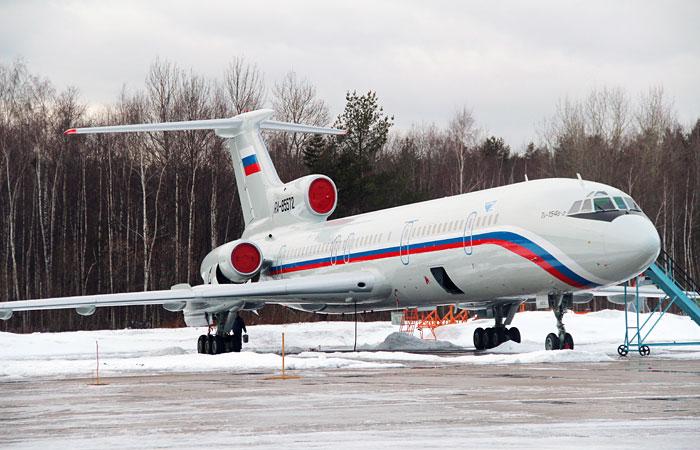 Приостановлены полеты Ту-154 российских силовых ведомств
