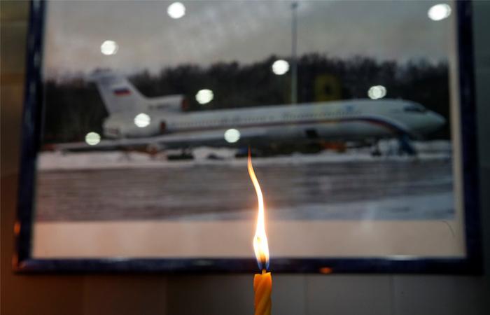 Очевидец снял на видео взлет и падение Ту-154