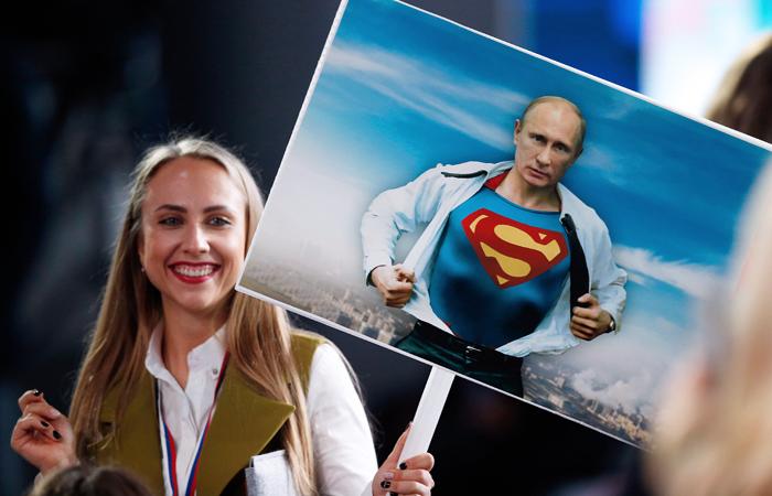 Рейтинг одобрения работы Путина достиг годового максимума