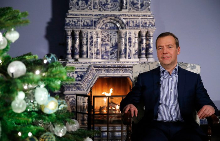 Владимир Путин и Д. Медведев поздравили свердловчан сНовым годом