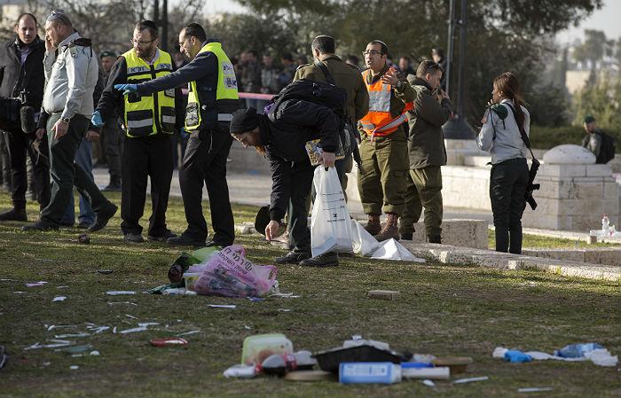 В совершении теракта в Иерусалиме заподозрили палестинца