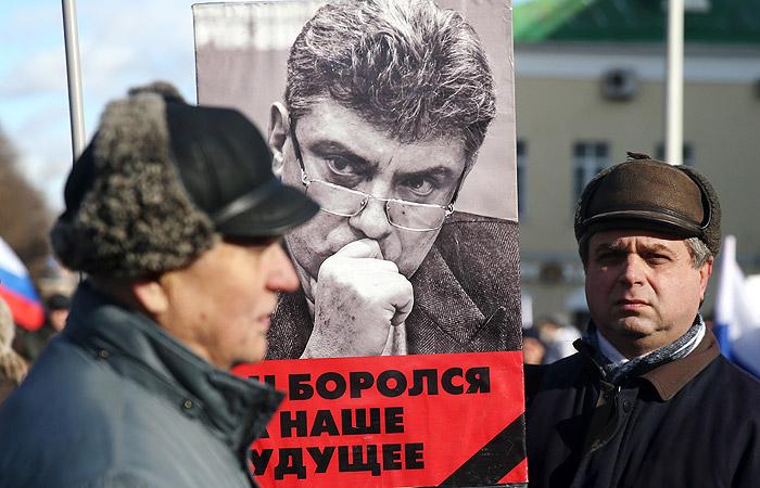Полиция оценила число участников марша памяти Немцова в Москве в 5 тыс. человек