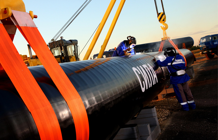 В 2017-ом году «Газпром» построит 600км газопровода «Сила Сибири»
