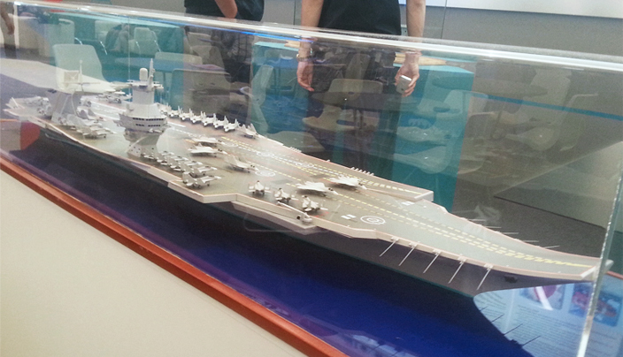 "Макет авианосца проекта ""Шторм"" на выставке ""Армия 2015"""