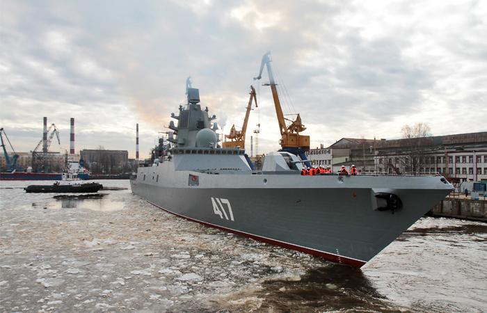 """Фрегат """"Адмирал Горшков"""" отправился на заключительный этап испытаний"""