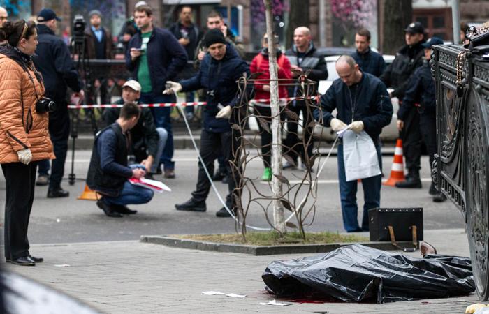 Размещено шокирующее видео сместа убийства Дениса Вороненкова вКиеве