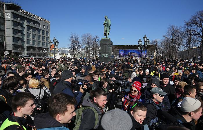 Навального задержали на Триумфальной площади в Москве