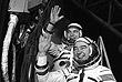 """1977 год. Командир космического корабля """"Союз-26"""" Юрий Романенко (слева) и бортинженер Гречко перед стартом на космодроме Байконур. Полет длился с 10 декабря 1977 по 16 марта 1978 года и стал рекордным для своего времени"""