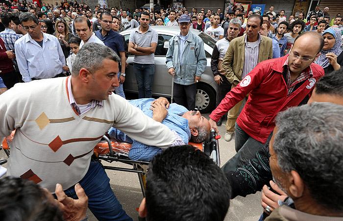 В Александрии при взрыве у церкви погибли более десяти человек