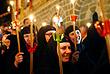 Монахини на православной Пасхе в монастыре 10 века в Македонии