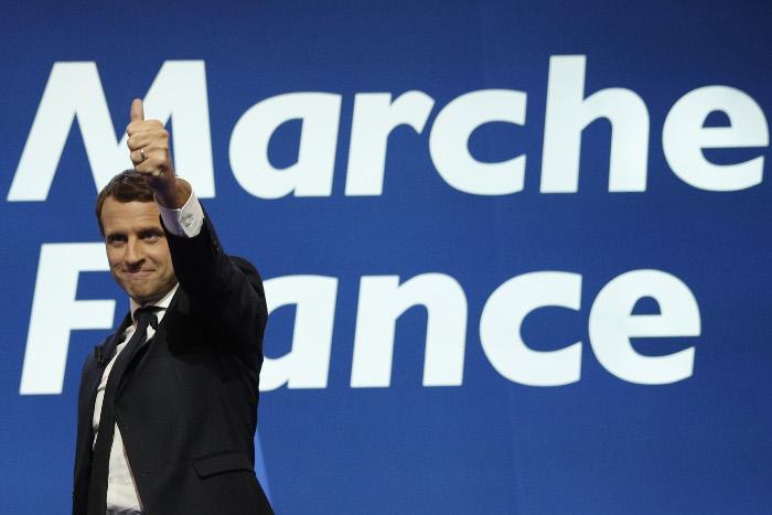 Эммануэль Макрон победил в первом туре президентских выборов во Франции