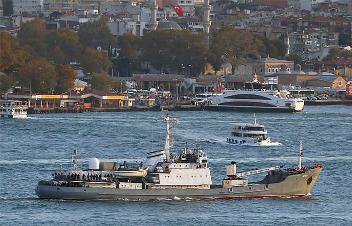 """Разведывательный корабль """"Лиман"""" получил пробоину рядом с Босфором"""