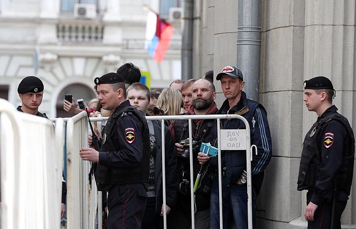 ВМВД поведали очисле участников несанкционированной акции вцентральной части Москвы