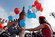 Участники акции профсоюзов в Москве