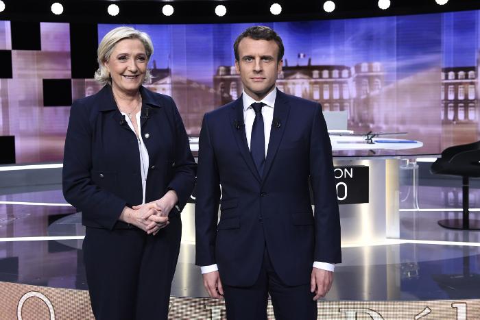 Большинство французов отдало предпочтение Макрону по итогам дебатов