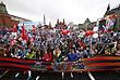 По данным полиции, в московском шествии приняли участие свыше 850 тысяч человек