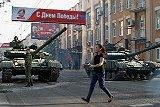 В Луганске и Донецке начались военные парады в честь дня Победы