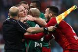 Подравшиеся в финале Кубка России футболисты отстранены на 6 матчей турнира