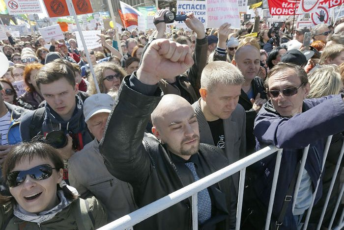 В Москве завершился митинг против реновации
