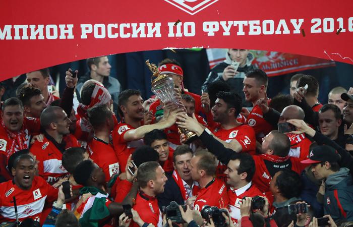«Спартаку» вручили чемпионский кубок в столице
