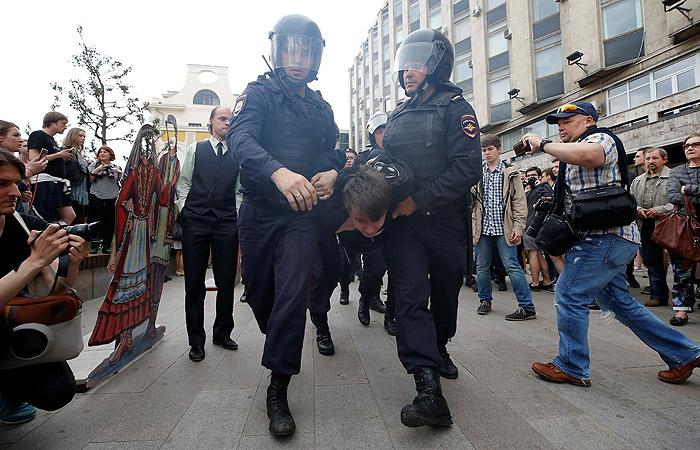 Неменее 150 человек были задержаны вовремя несогласованной акции— МВД