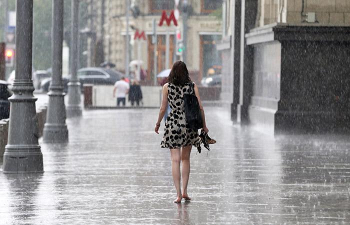 Почти четверть месячной нормы осадков выпала в Москве за несколько часов