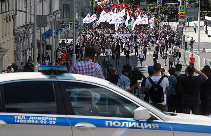 """В центре Москвы завершилось шествие """"За свободный интернет"""""""