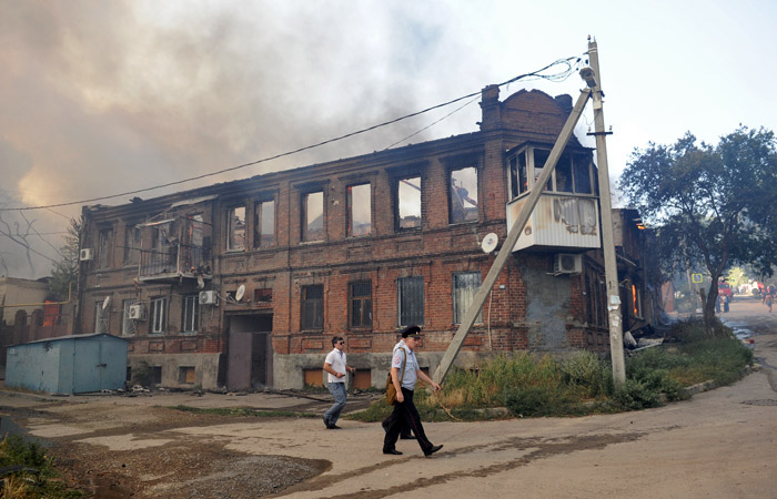 Пожар в центре Ростова-на-Дону потушили