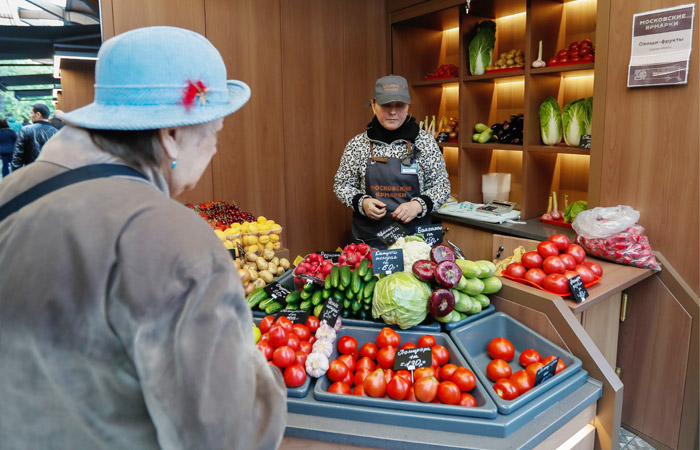 Недельная инфляция в России в третий раз подряд оказалась нулевой