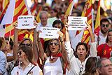 В Барселоне десятки тысяч человек на акции выступили за единство Испании