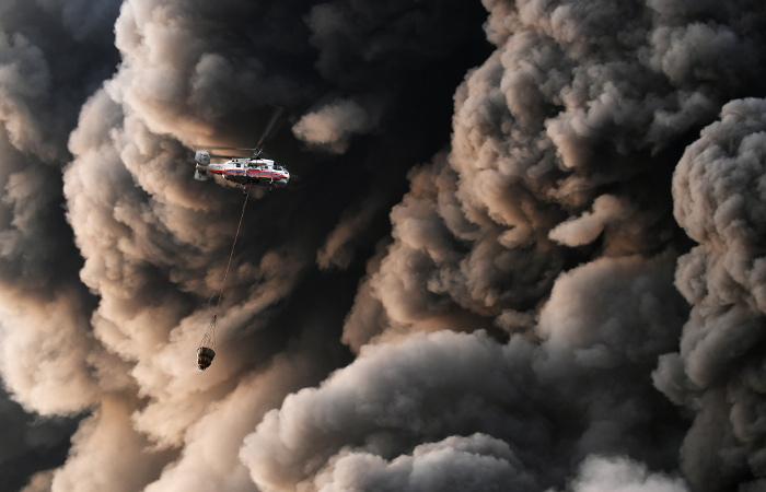 """При пожаре на рынке """"Синдика"""" пострадали три человека"""