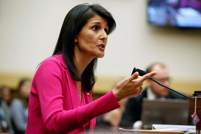"""Постпред США в ООН назвала """"боевой операцией"""" предполагаемое вмешательство РФ в выборы"""