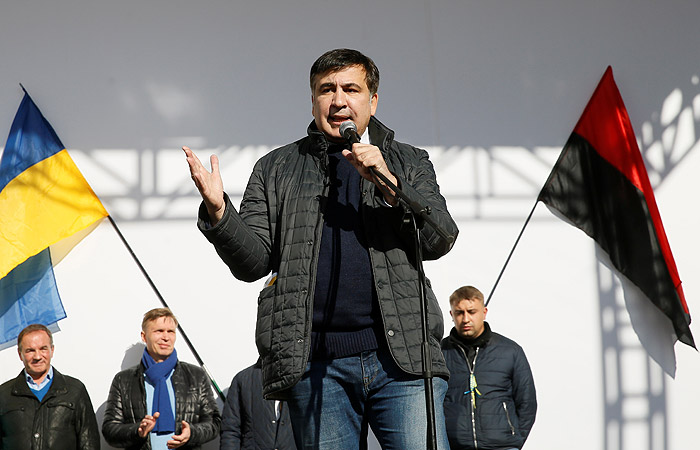 Саакашвили призвал не прекращать протест у стен Рады еще две недели