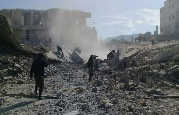 В РФ назвали взорвавшуюся в Сирии бомбу с химзарядом наземной и сделанной из водопроводной трубы