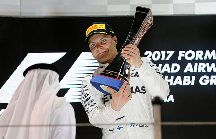 Пилот команды «Мерседес» Боттас одержал победу квалификацию Гран-при Абу-Даби «Формулы-1»