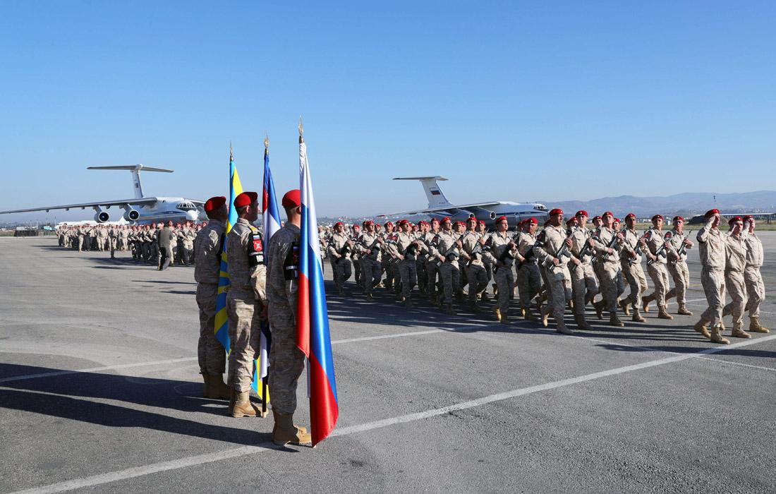 """Российские военнослужащие на авиабазе """"Хмеймим"""""""