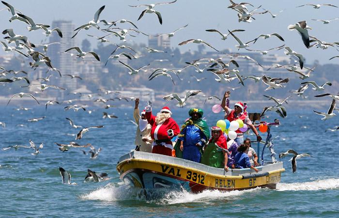Американские военные отчитались о рождественском путешествии Санта-Клауса