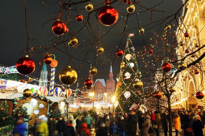 Ряд улиц в центре Москвы перекроют из-за проведения Общероссийской новогодней елки
