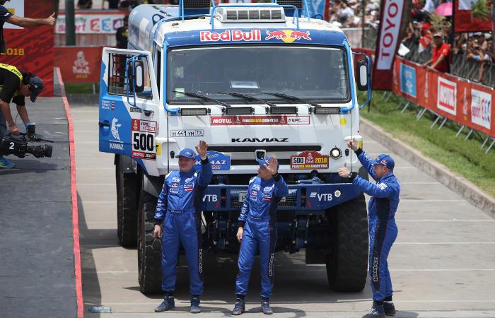 Два экипажа'КАМАЗ-Мастер вошли в тройку лучших на третьем этапе'Дакара