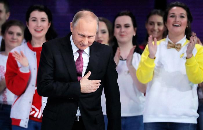 Рейтинг доверия Путину достиг в декабре годового максимума