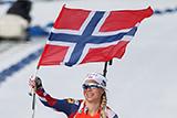 Норвежка Экхофф выиграла спринт на этапе Кубка мира по биатлону