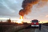 Площадь пожара после разлива нефти под Саратовом достигла 1000 квадратных метров