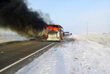 У сгоревшего в Казахстане автобуса не было лицензии на пассажирские перевозки
