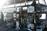 Полиция Казахстана назвала предварительную причину возгорания автобуса