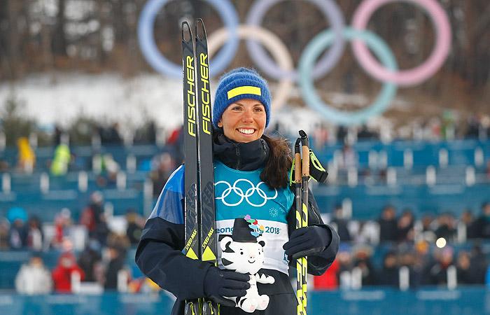Шведская лыжница Шарлот Калла выиграла первое золото Олимпиады