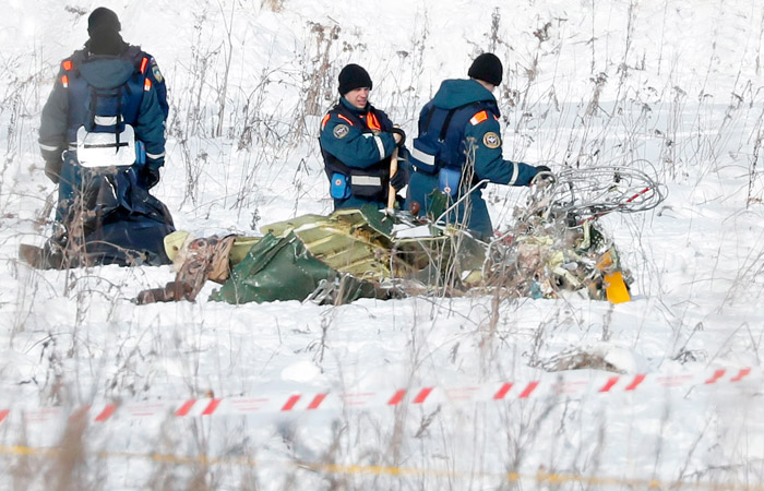 Упавший в Подмосковье Ан-148 взорвался при ударе о землю