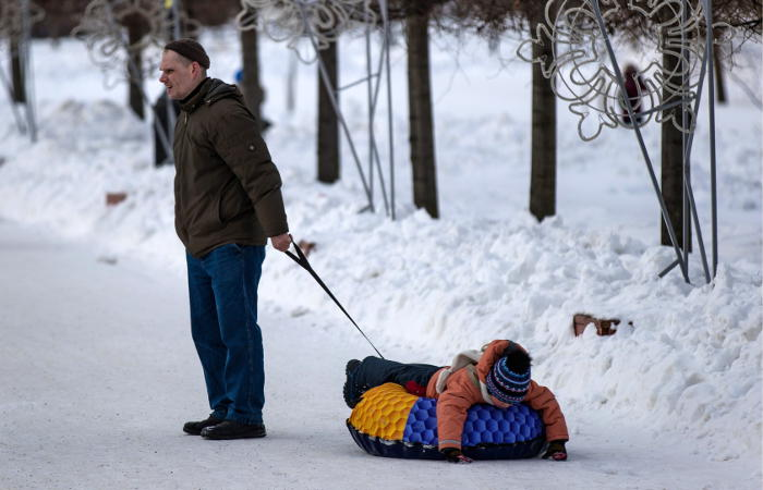 Снег исильный ветер ожидается вчетверг вТомске