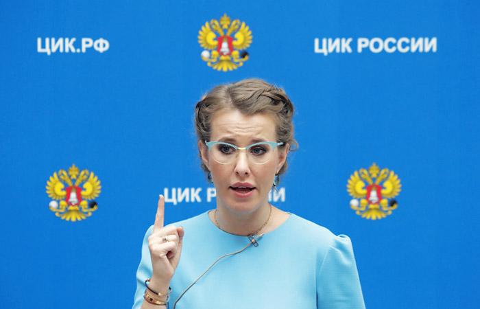 Собчак откажется от предвыборной агитации на время поездки в Крым